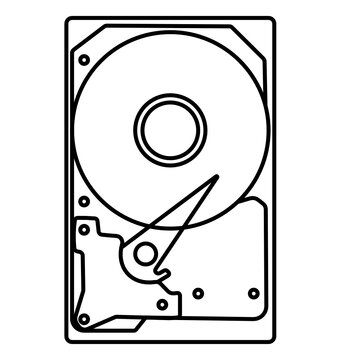 Schematic Hard drive icon