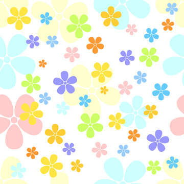 Seamless Floral Pattern of flowers vector illustration. Plant background for fashion, wallpapers, print.