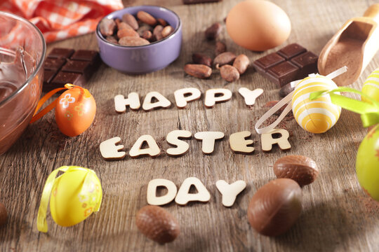 happy easter day and cooking ingredient