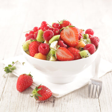 mixed fruit salad with berries