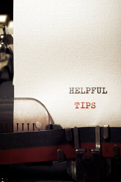Helpful tips text