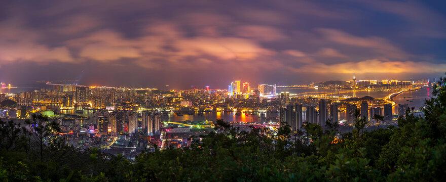 Macau Cityscape from Zhuhai at Evening, Macau