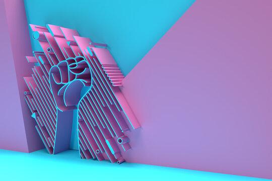 3D International Youth day Poster, 3D illustration Design.