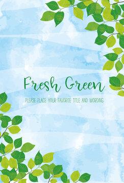 爽やかな新緑の飾り枠素材