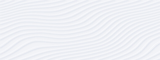White silver soft wavy universal background for business presentation. Abstract flowy elegant pattern. Minimalist empty striped blank BG. Halftone monochrome fluid cover. Modern digital minimal color