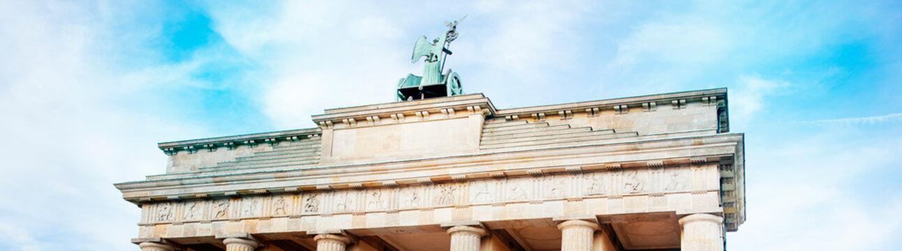 Brandenburg Gate in Berlin, in web banner format