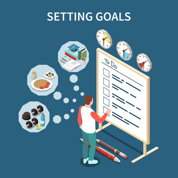 Setting Goals Isometric Composition