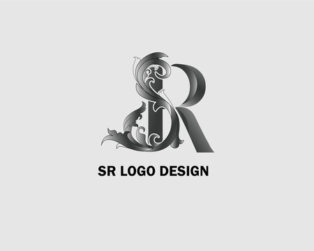 SR Logo Template Design