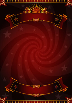 Circus red background. A red circus background for a poster with a vortex for your message !