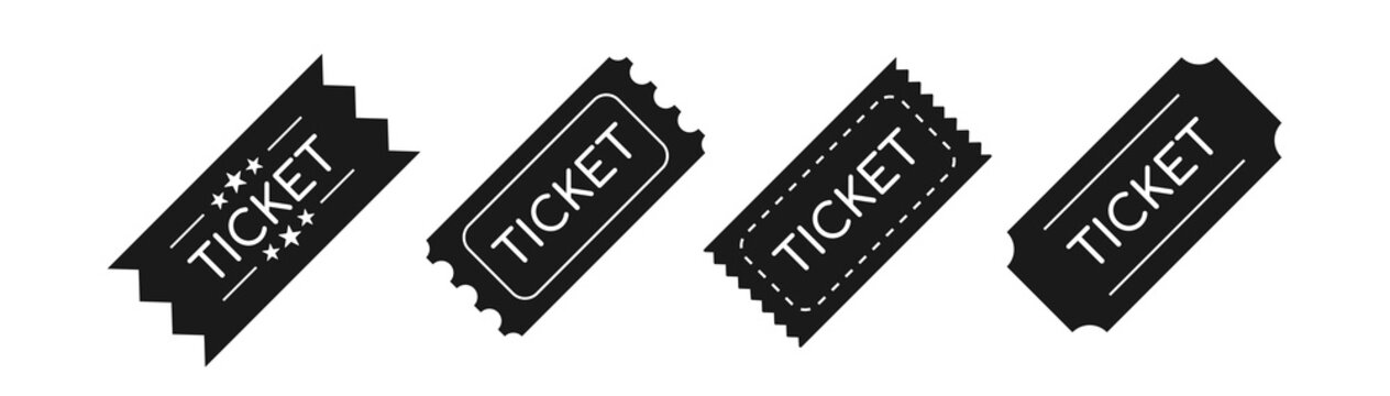 Entry ticket icon. Admit one. Vector