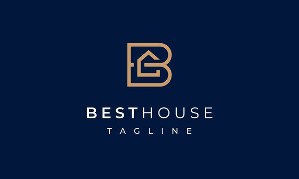 Best House Letter B Logo for Real Estate