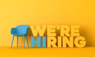 Fototapeta We are hiring job opportunity message. 3D Rendering obraz