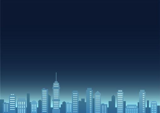暗い空の都市風景イラスト・不安・不穏