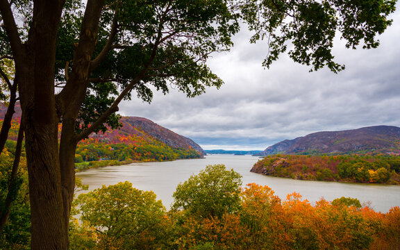 a autumn of the Hudson river from the United States Military Academy West Point, New York