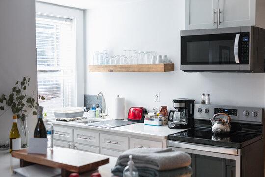 Single family home interior kitchen
