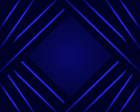 Abstract backround with blue gradient lines. Modern dark design template. 3D banner. For web, presentation, brochure, flier