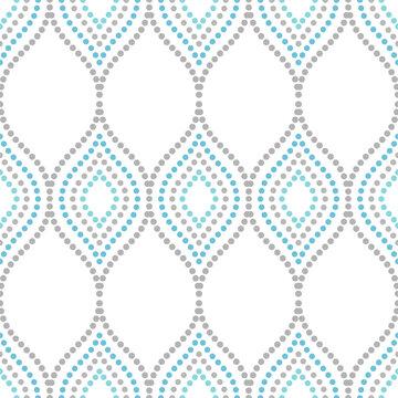 Seamless dotted ornament. Modern background. Geometric modern pattern