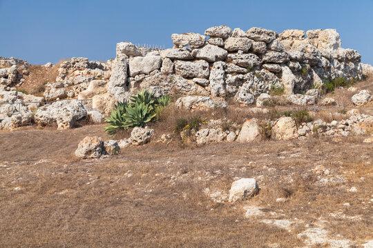 Ggantija megalithic temple complex. Gozo island, Malta