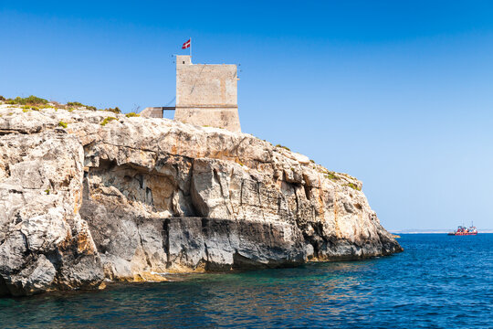 Coastal landscape with Mgarr ix-Xini Tower, Malta