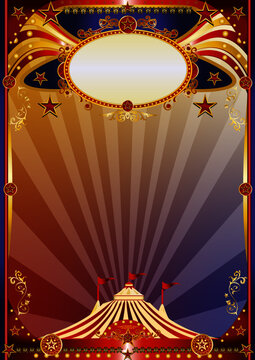 Circus magic multicolor background. A multicolor circus background for a poster. Welcome to the show !