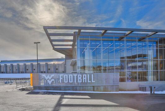 MORGANTOWN, WV, UNITED STATES - Feb 07, 2021: West Virginia University Stadium Football Office