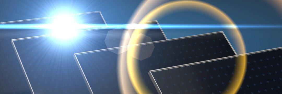Solar panel, photovoltaic, alternative electricity source 3d