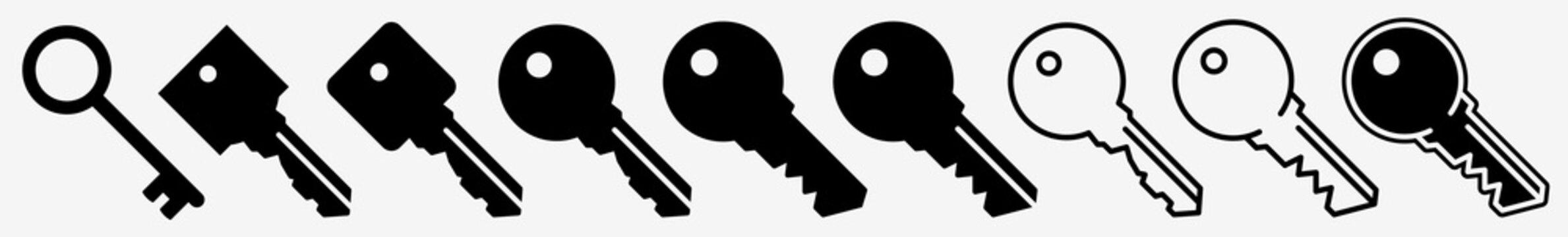 Key Icon House Key Lock Set   Keys Icon Unlock Vector Illustration Logo   Door Key Access Key Icon Isolated Collection