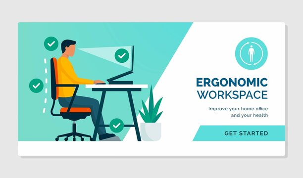 Ergonomic workspace and correct posture