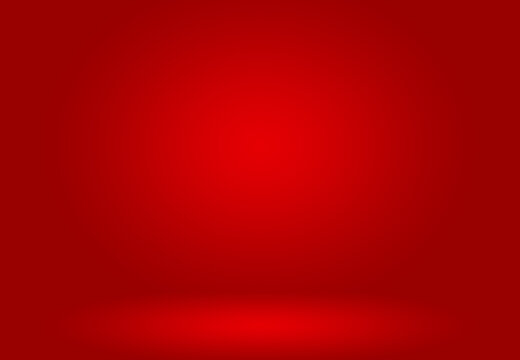 Abstract Red background Christmas Valentines layout design,studio,room, web template ,Bussiness report with smooth circle gradient color.
