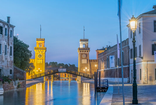 Italy, Venice. Arsenal, This area was a shipyard which produced all of the ships in the Venetian navy.