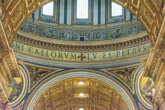 Interior of St. Peter's Basilica, The Vatican City, Vatican