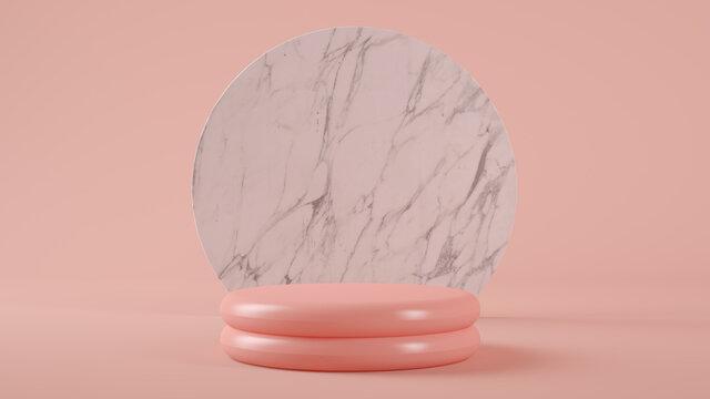 pink plastic platform