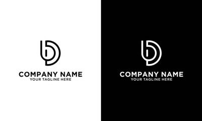 Obraz Alphabet letter icon logo DB or BD - fototapety do salonu