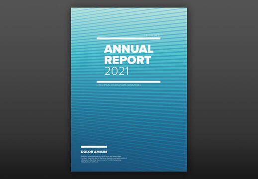 Blue Annual Report Front Cover Page Layout