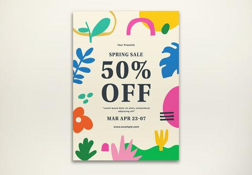 Spring Sale Flyer Layout