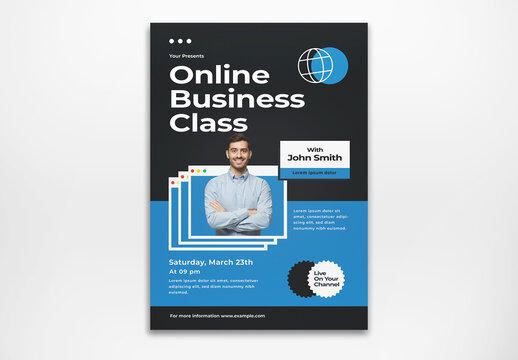 Online Business Class Flyer Layout