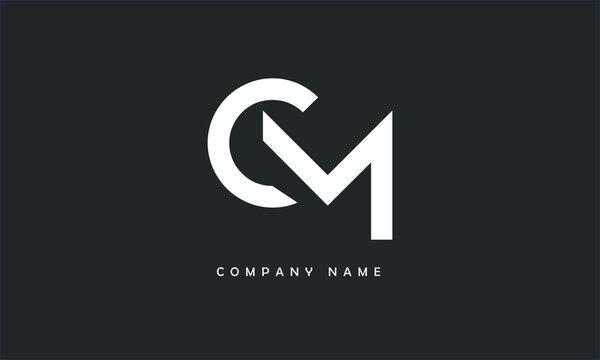MC, CM, M, C Abstract Letters Logo Monogram