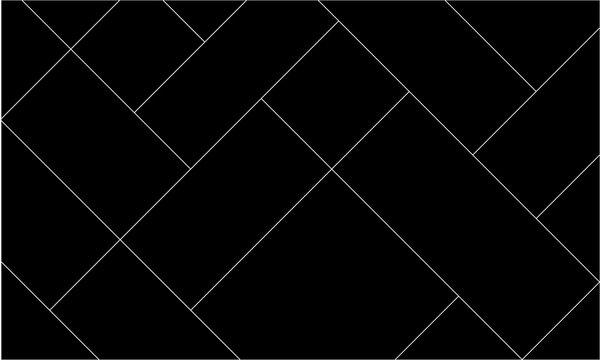 Diagonal mondrian pattern of mosaic tile. Design lines white on black background. Design print for illustration, texture, wallpaper, background, textile. Set 2