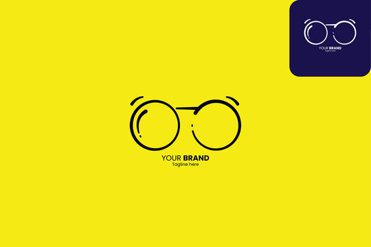 eyeglasess logo, spectacles logo, simple logo, easy to remember and can be seen well even from a distance, prefect to your brand fashion or eye services