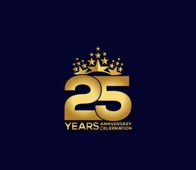Fototapeta 25 Year Anniversary Day background Concept obraz