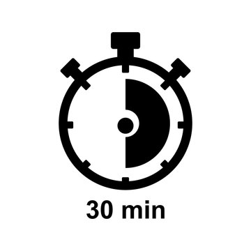30 minutes timer icon vector