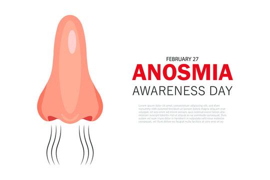 Anosmia Awareness Day vector illustration, 27 February.