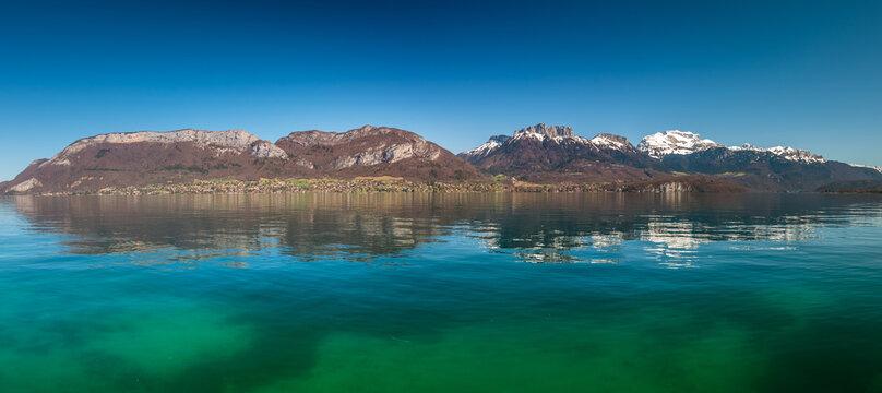 Panorama du lac d'Annecy depuis Sevrier