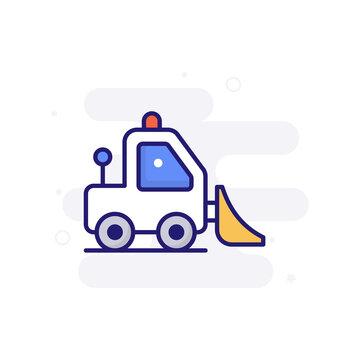 Skid Loader vector filled outline icon style illustration. EPS 10 file