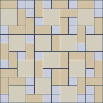 Mid Century Retro rectangular tile vector pattern