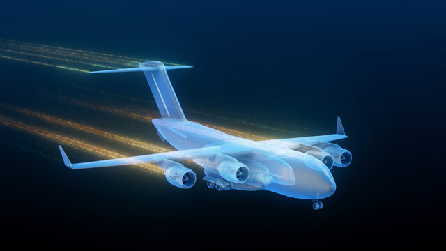 3d rendered illustration of Globemaster Airplane Front. High quality 3d illustration