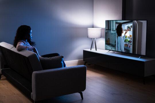 Smart Led TV In Living Room