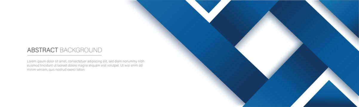 modern blue line banner. vector illustration