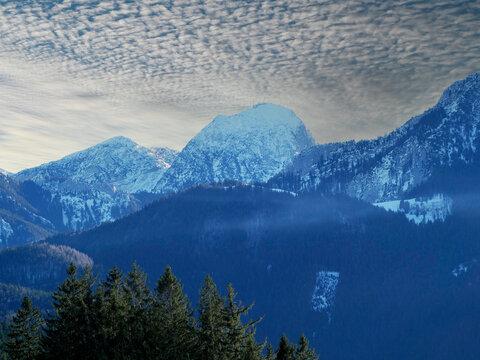 Winter in den Alpen, Schnee auf dem Wendelstein