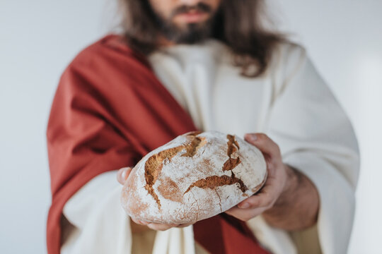Holding the bread